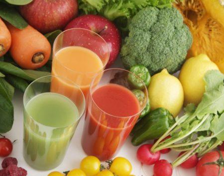Соки и овощи