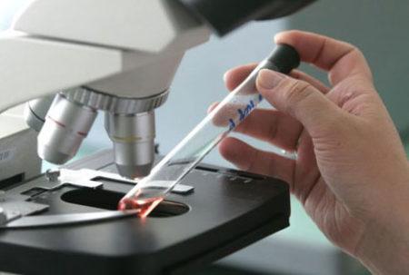 Микроскоп и пробирка
